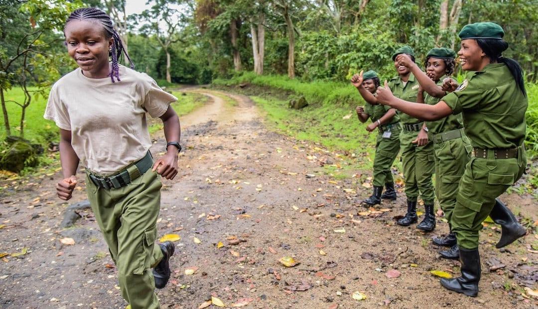 Virunga ranger Angel training for marathon